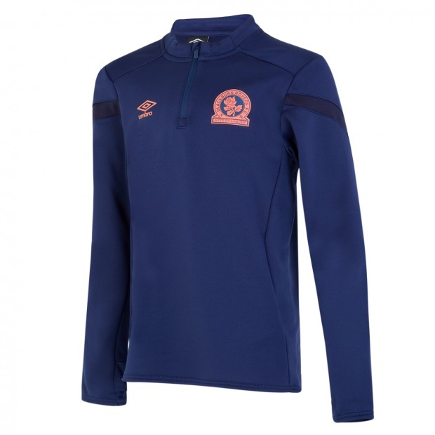 Rovers 19/20 Adult Training Half Zip Top (Blue)