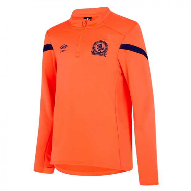 Rovers 19/20 Kids Training Half Zip Top (Coral)
