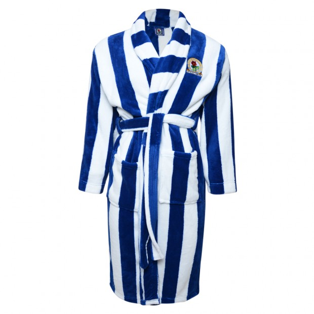 Rovers Adults Stripe Dressing Gown