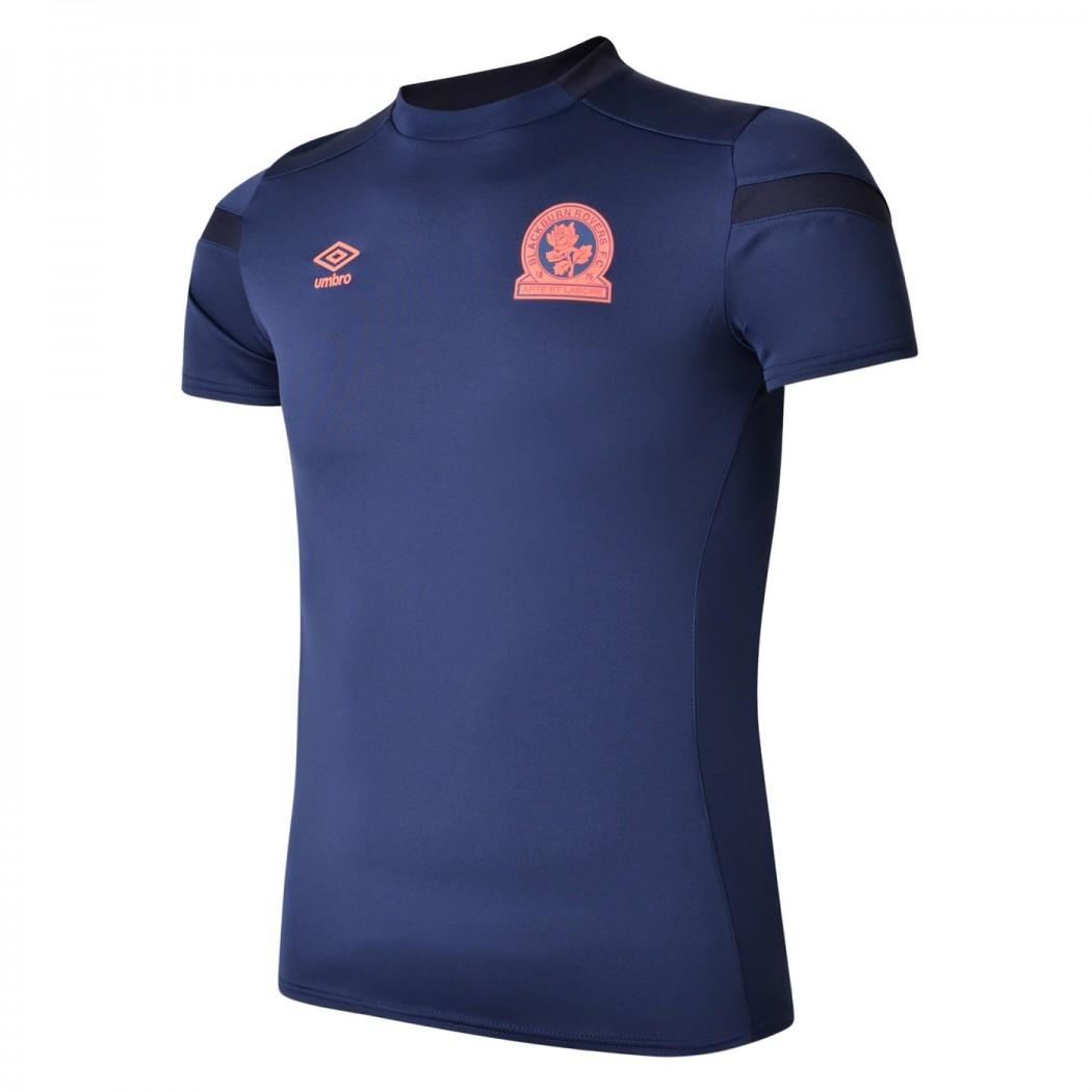 Umbro Men/'s Jersey Training Short Top Sleeve T-Shirt Blue