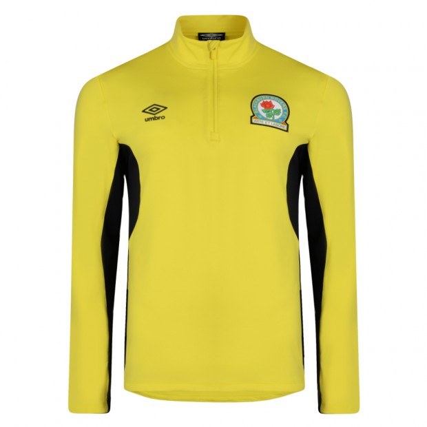 Rovers 17/18 Adults Training Half Zip Top (Yellow)